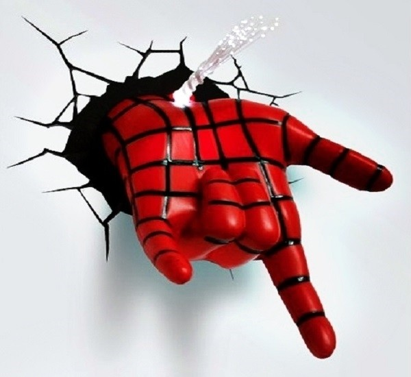 3D-светильник Рука Человека-Паука