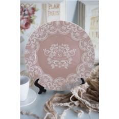 Декоративная именная тарелка Кружева