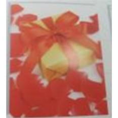 Бумажный ламинированный пакет (цвет — красный)