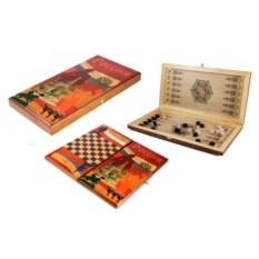 Настольная игра в нарды и шашки Лев