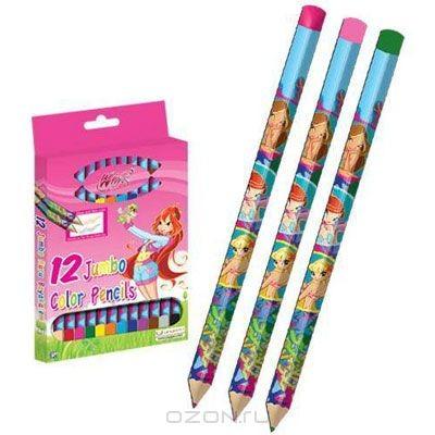 Цветные карандаши Winx Club, 12 цветов