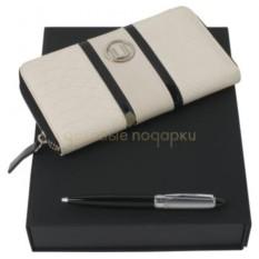 Подарочный набор (портмоне дамское, ручка шариковая)
