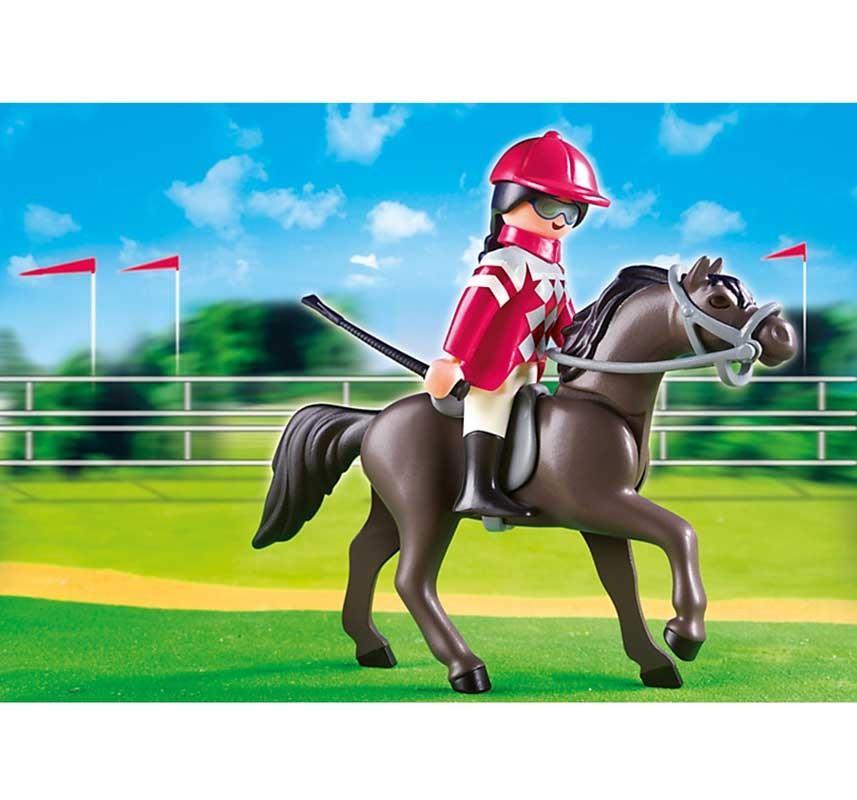 Игровой набор Playmobil Конный клуб. Арабская лошадь со стойлом