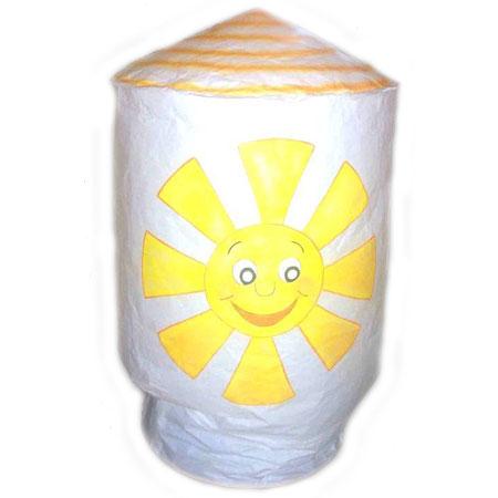 Небесный фонарик цилиндр «Солнышко»