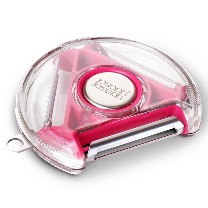 Компактный пиллер с тремя лезвиями Rotary Peeler™, розовый