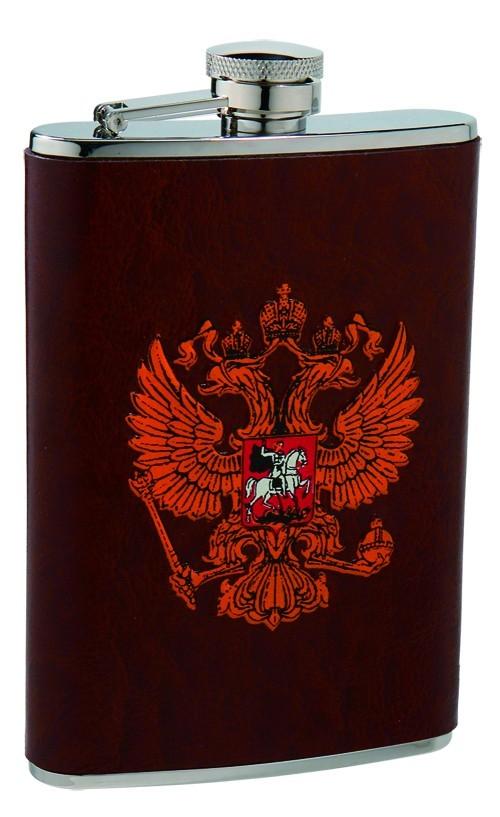 Металлическая фляга S.Quire Герб России, 0,27 л