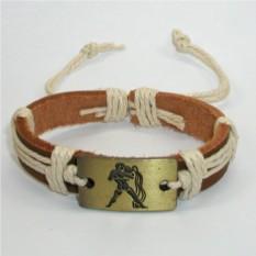 Кожаный браслет Водолей