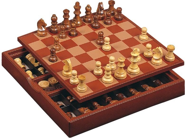 Шахматы Renzo Romagnoli, в коричневом боксе
