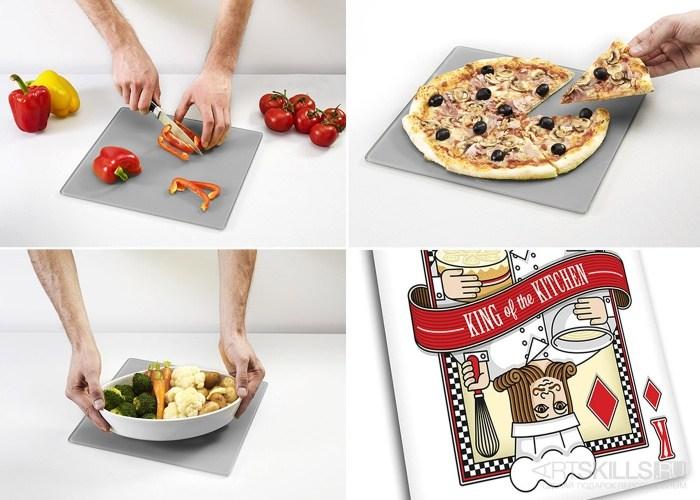Доска для готовки и защиты рабочей поверхности Playing card
