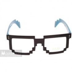 Синие пиксельные очки