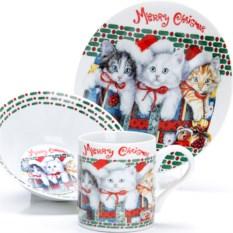 Набор детской посуды 3 предмета Котята