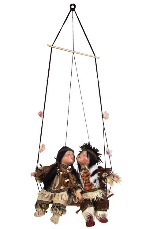 Набор фарфоровых кукол Индейцы на качелях