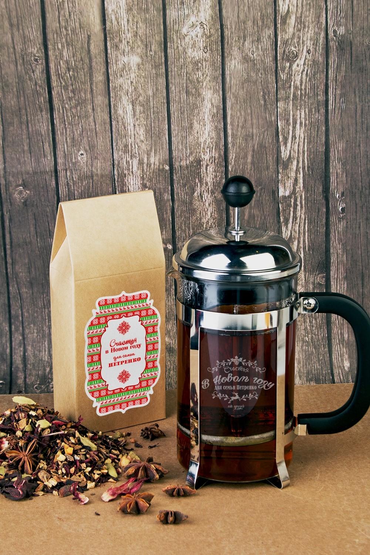 Набор для чая с Вашим текстом Счастья в Новом Году