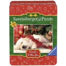 Пазл Ravensburger Рождественский щенок, 80 элементов