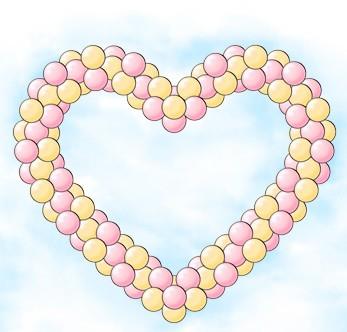 Сердце каркасное из воздушных шаров