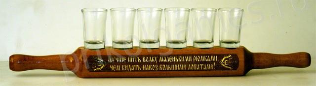 Подставка под стопки Лучше пить водку..., стекло