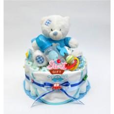 Торт из памперсов Тедди