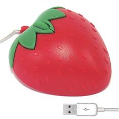 Мышь для ПК в виде красной клубники.