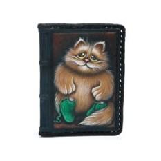 Обложка для автодокументов Котик в носочках