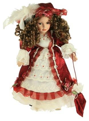 Декоративная кукла Каролина, фарфор 36 см