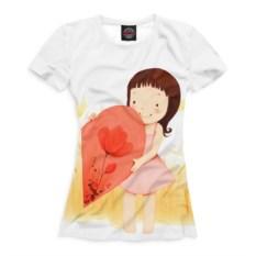 Женская футболка Половинки сердца
