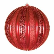 Елочная игрушка Арбуз красного цвета