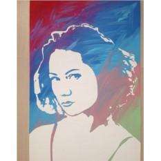 Стенсил арт портрет 40х60 см.