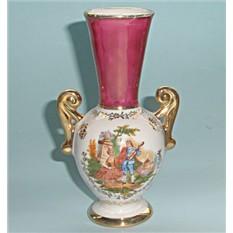 Антикварная вазочка миниатюра Limoges Летняя серенада