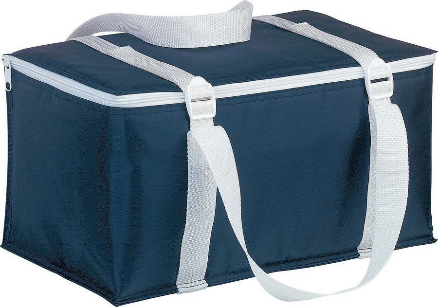 Синяя сумка-холодильник на 12 банок