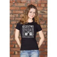 Женская футболка с вашим текстом Фотографу