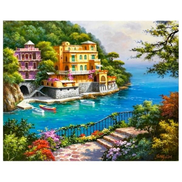 Картина-раскраска по номерам на холсте Вилла