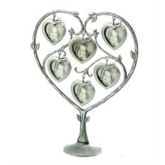 Фоторамка-дерево с сердечками на 6 фото