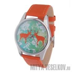 Часы Mitya Veselkov Два оленя (цвет: рыжий)