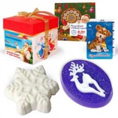 Подарочное мыло ручной работы «Сказочный олень и снежинка»