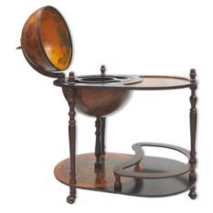 Напольный глобус-бар со столиком, диаметр 42 см