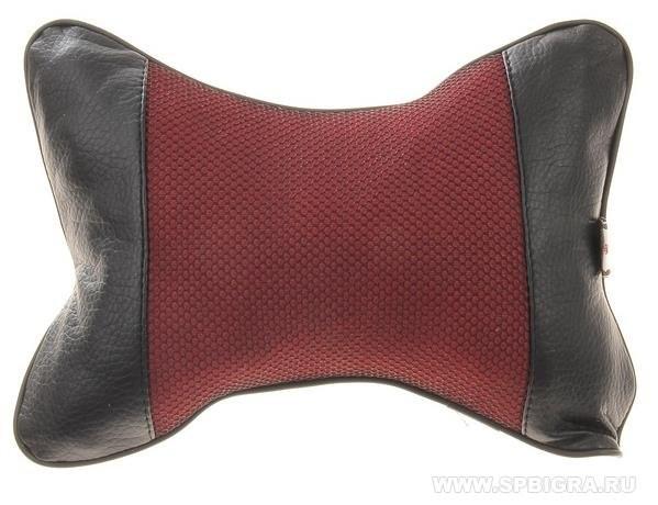 Подушка на подголовник кресла Красная строчка