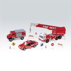 Игровой набор машин Пожарная служба 10 шт. Welly