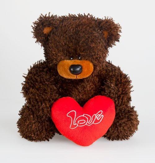Игрушка Медведь Миша с сердцем (музыкальная)