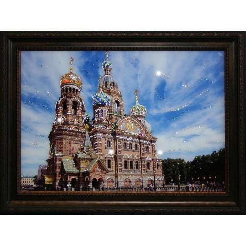 Картина с кристаллами Сваровски Храм Спаса-на-Крови