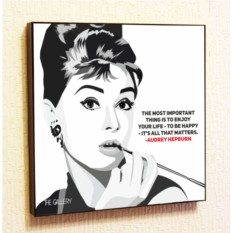 Картина в стиле поп-арт Одри Хепберн