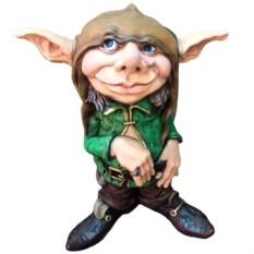 Декоративная фигура Лепрекон в зеленом