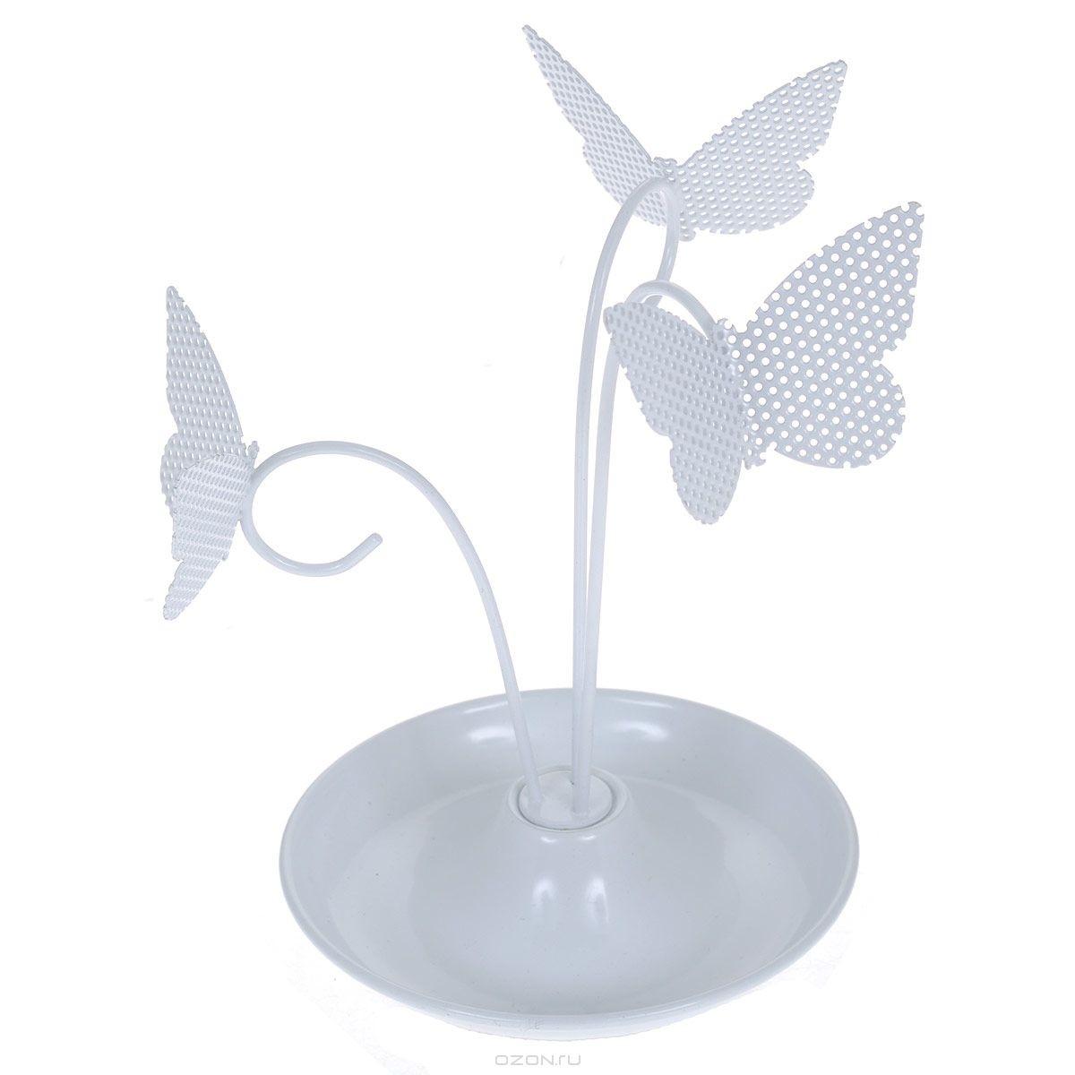 Держатель для украшений Бабочки, цвет: белый