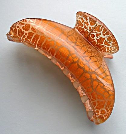 Заколка-краб Солнечный кракелюр