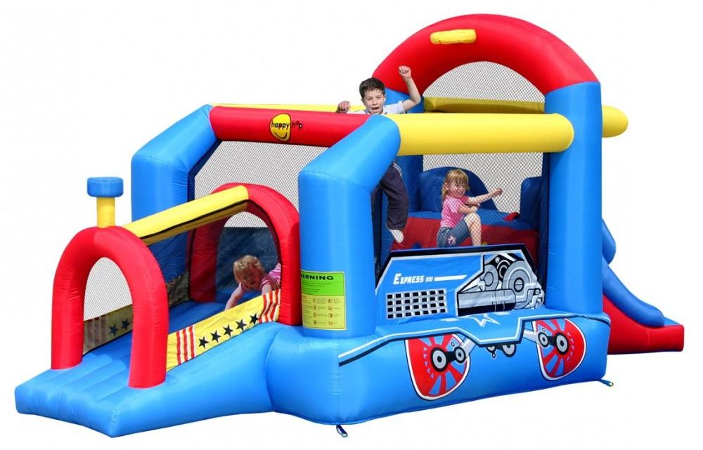 Детский надувной игровой центр Паравозик HAPPY HOP 9054N