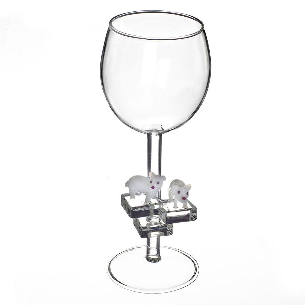 Бокал для вина Белые медведи