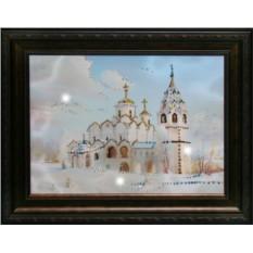 Картина с кристаллами Сваровски Церковь
