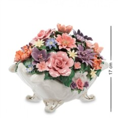 Фарфоровая музыкальная композиция Ваза с цветами