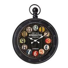 Черные настенные часы в стиле ретро
