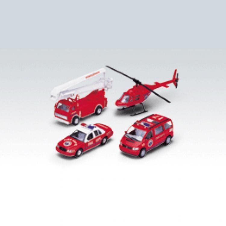 Игровой набор машин Пожарная служба Welly