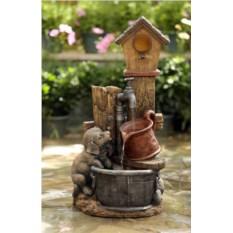 Декоративный фонтан для дачи Щенок